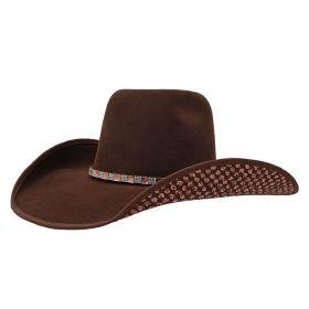 Chapéu Dallas Arizona Marrom Brilho