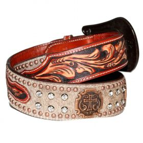 Cinto Arizona Belts Marrom Strass 7112