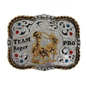 Fivela Master Western Quadrada Team Roper Pro