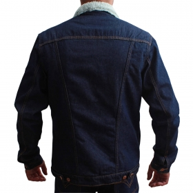 Jaqueta Wrangler Masculina Jeans Com Pelo