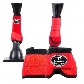 Kit Proteção Boots Horse Vermelho