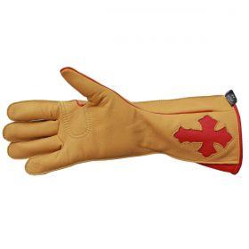 Luva de Montaria Cowboy Strong Amarelo Vermelha Mão Direita 7