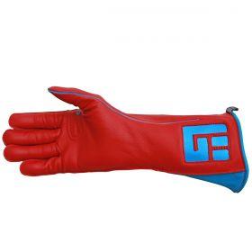Luva de Montaria Guilherme Marchi Esquerda Vermelha Logo Azul