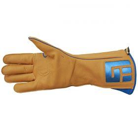 Luva De Montaria Guilherme Marchi Mão Direita Amarelo Logo Azul