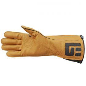 Luva De Montaria Guilherme Marchi Mão Direita Amarelo Logo Preto