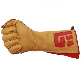 Luva De Montaria Guilherme Marchi Mão Direita Amarelo Logo Vermelho