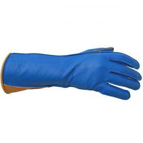 Luva De Montaria Guilherme Marchi Mão Direita Azul Logo Dourado