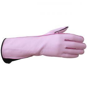 Luva De Montaria Guilherme Marchi Mão Direita Rosa Logo Preto