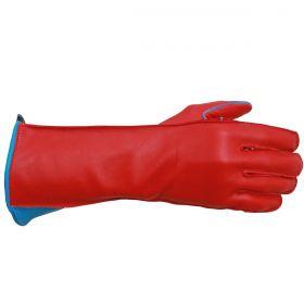 Luva de Montaria Guilherme Marchi Mão Direita Vermelha Logo Azul