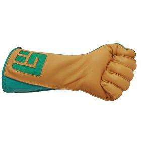 Luva De Montaria Guilherme Marchi Mão Esquerda Amarelo Logo Verde
