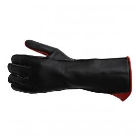 Luva De Montaria Guilherme Marchi Mão Esquerda Preta Com Vermelho