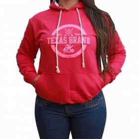 Moletom 2K Jeans Feminino Rosa Com Aplique