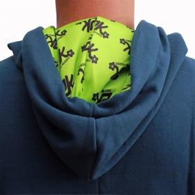 Moletom 2K Jeans Masculino Azul Marinho Logo Verde