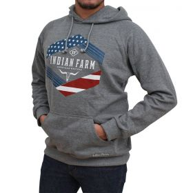 Moletom Indian Farm Masculino Cinza Americam