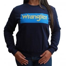 Moletom Wrangler Feminino Azul Marinho