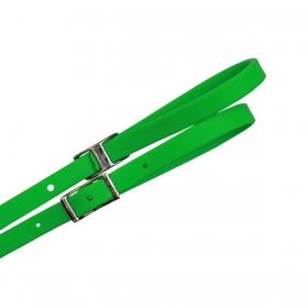 Rédea De Borracha Verde Neon Top Equine