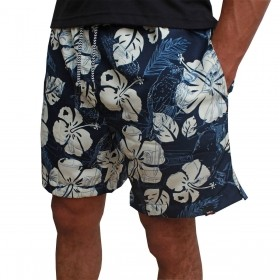 Short Masculino Os Vaqueiros Azul Marinho Estampa Floral