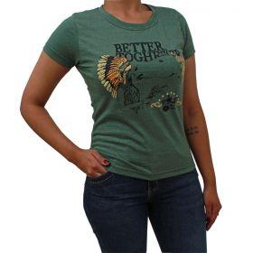 T-Shirt 2K Jeans Better Verde Militar