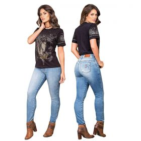 T-Shirt Buphallos Preto Estampa Cavalo