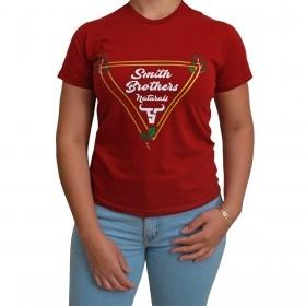 T-Shirt Feminina Smith Brothers Vermelha