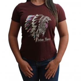 T-Shirt Indian Farm Cocar Bôrdo