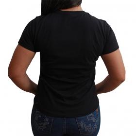 T-Shirt Indian Farm Cowgirls Preta
