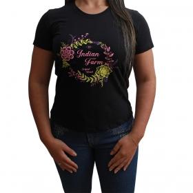 T-Shirt Indian Farm Original Brand Preta