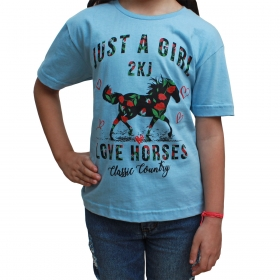 T-Shirt Infantil 2K Jeans Azul Claro