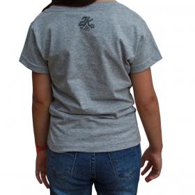 T-Shirt Infantil 2K Jeans Cinza Collection Horse