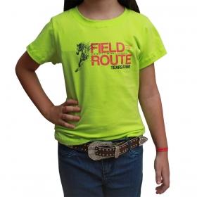 T-Shirt Infantil Texas Farm Verde Neon