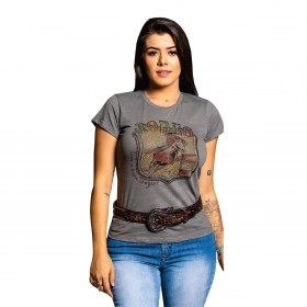T-Shirt Miss Country Amores Cinza