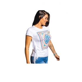 T-Shirt Miss Country Cores Branca