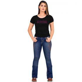 T-Shirt Os Vaqueiros Feminina Preta