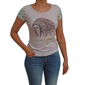 T-shirt Ride Horse Feminina Bege