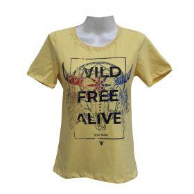 T-Shirt Stayrude Feminina Wild Amarela