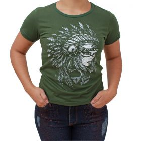T Shirt Texas Farm Verde Índio