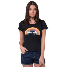 T-Shirt Wrangler Feminina Preta Estampada