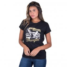 T-Shirt Wrangler Preta De Águia