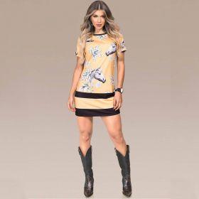 Vestido Feminino Amarelo Buphallos