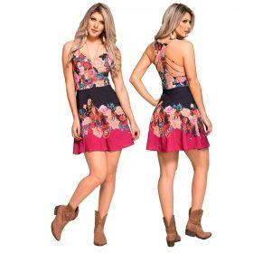 Vestido Feminino Buphallos Estampa Floral