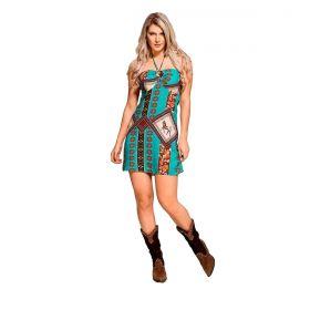 Vestido Feminino Buphallos Frente Única Estampado