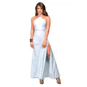 Vestido Feminino Buphallos Longo Jeans
