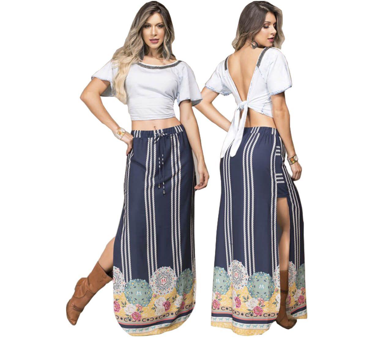 Blusa Feminina Buphallos Jeans - Arena Country Echaporã a7a6415627e