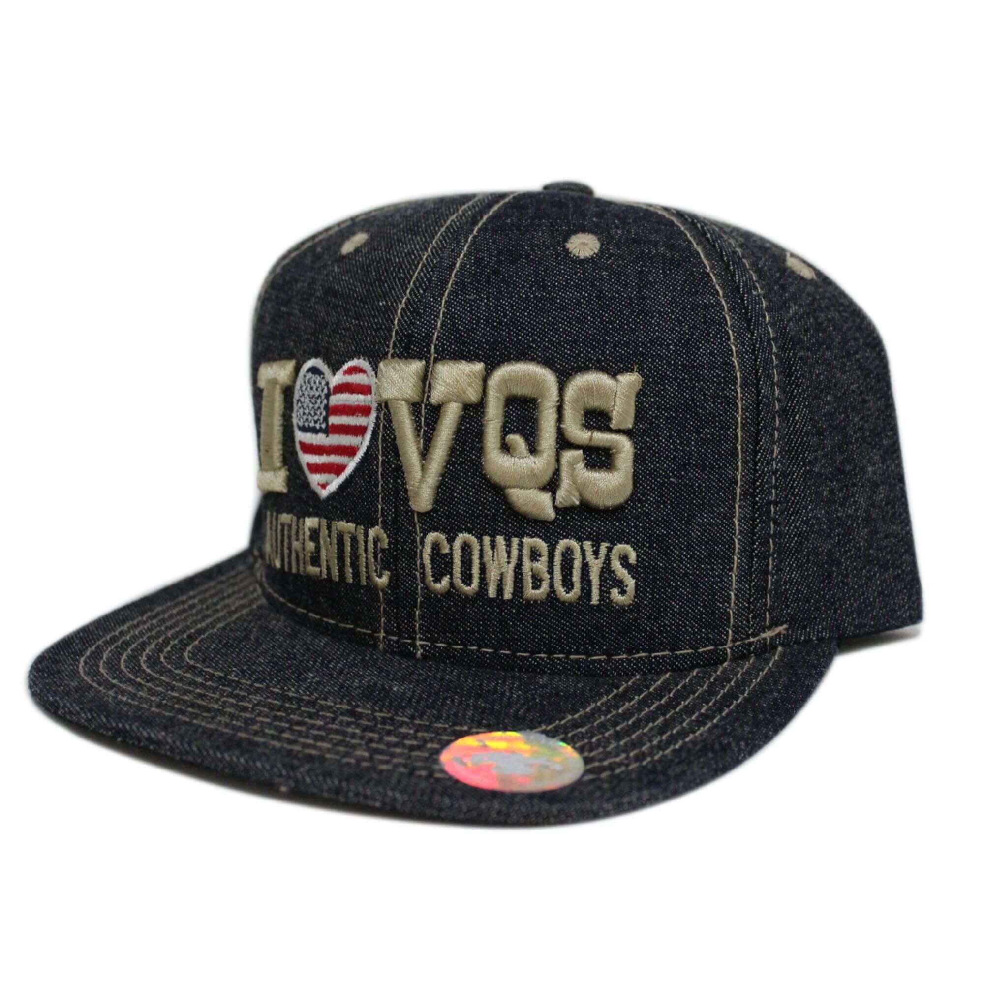 Boné Aba Reta Jeans I Love Vaqueiros - Arena Country Echaporã 2cbbc785fa2