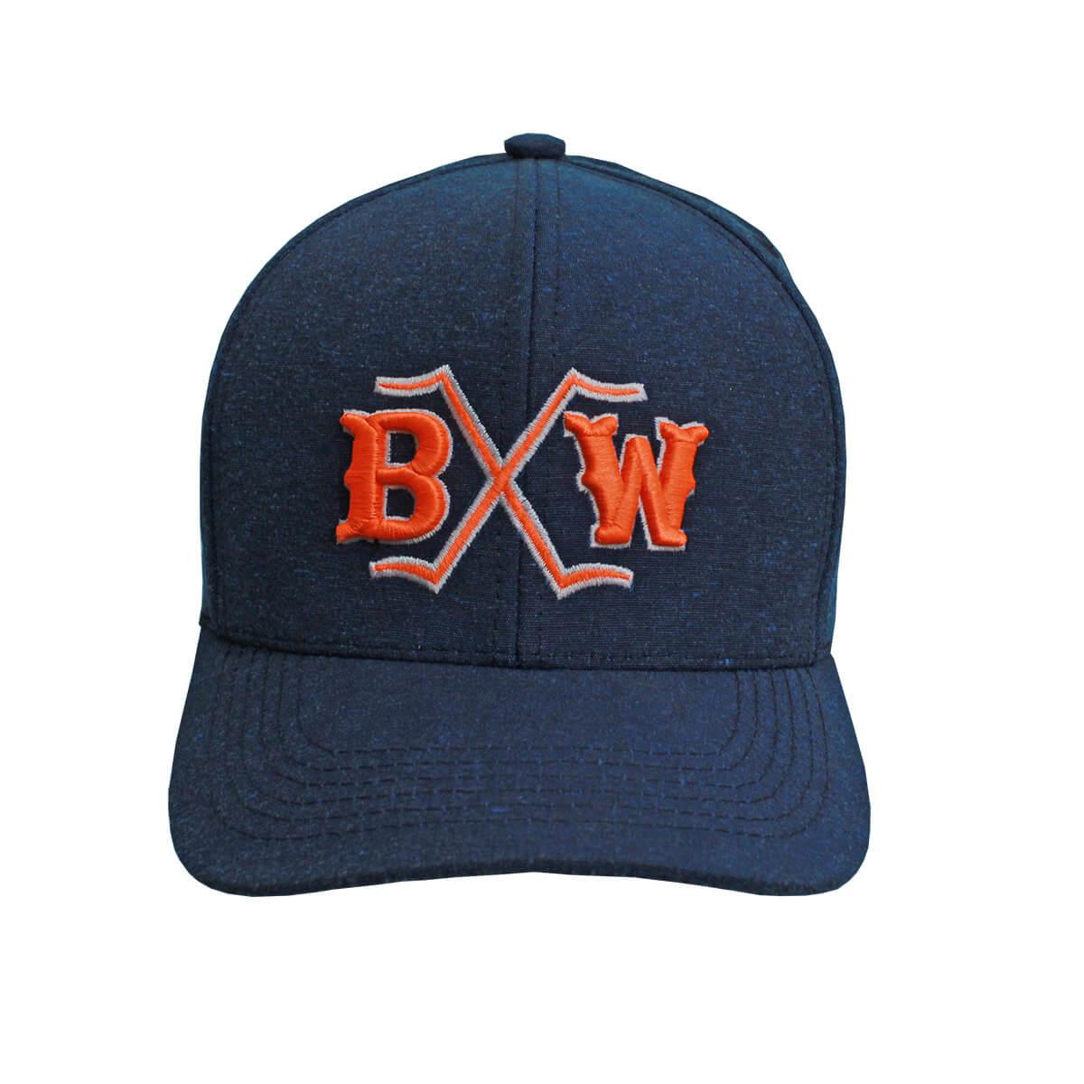 Boné Bucks Western Azul Com Laranja