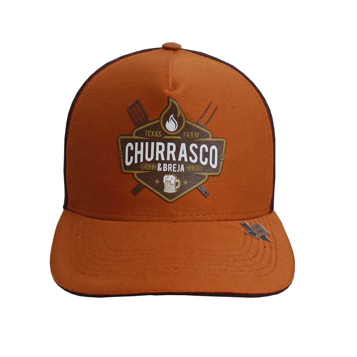Boné Texas Farm Marrom Churrasco