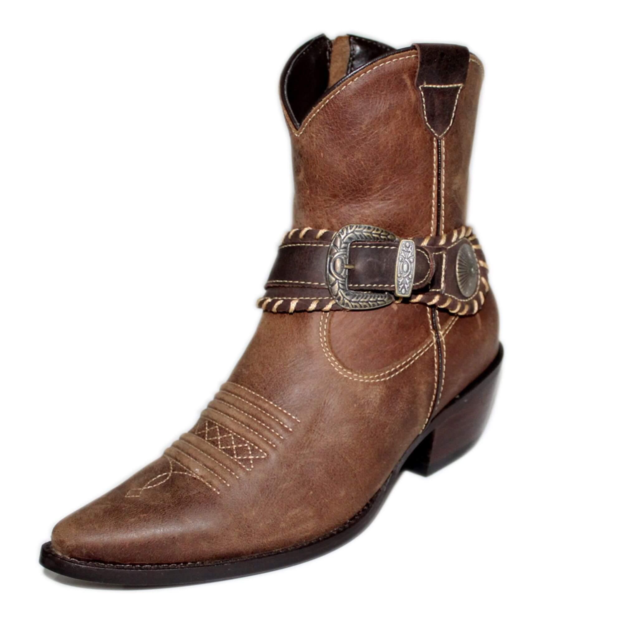 ef7f42280a Bota Vimar Boots Feminina Couro Brown Taupe - Arena Country Echaporã