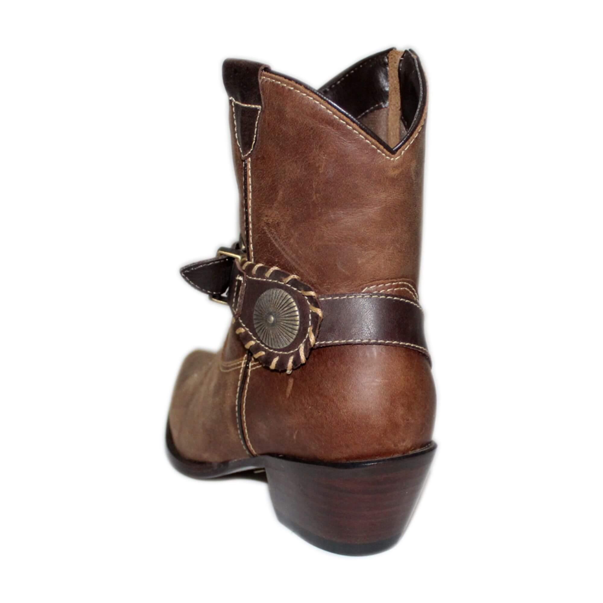 Bota Vimar Boots Feminina Couro Brown Taupe