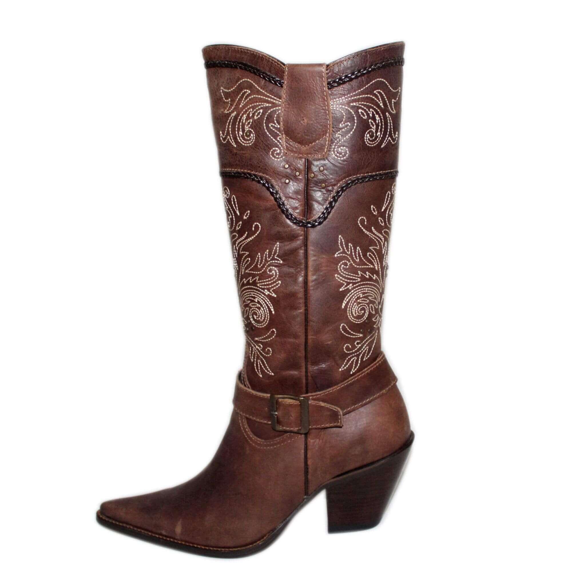 Bota Vimar Boots Feminina Couro Castanho