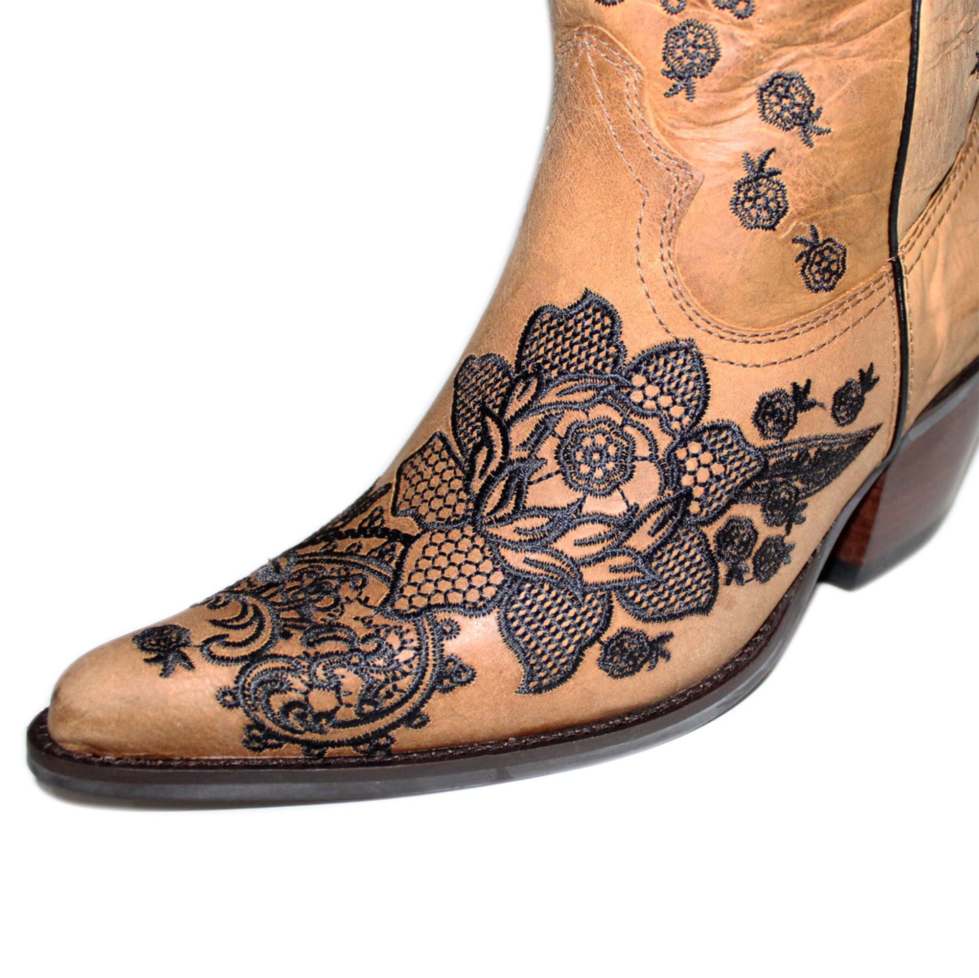 Bota Vimar Boots Feminina Couro Fossil Caramelo